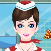 Charming Air Hostess
