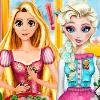 Elsa And Rapunzel Cooking Disaster